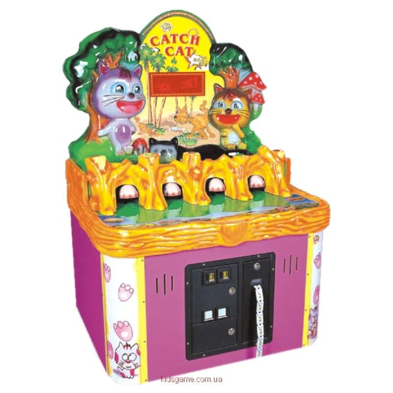 Развлекательный автомат с выдачей билетов колотушка Поймай кота
