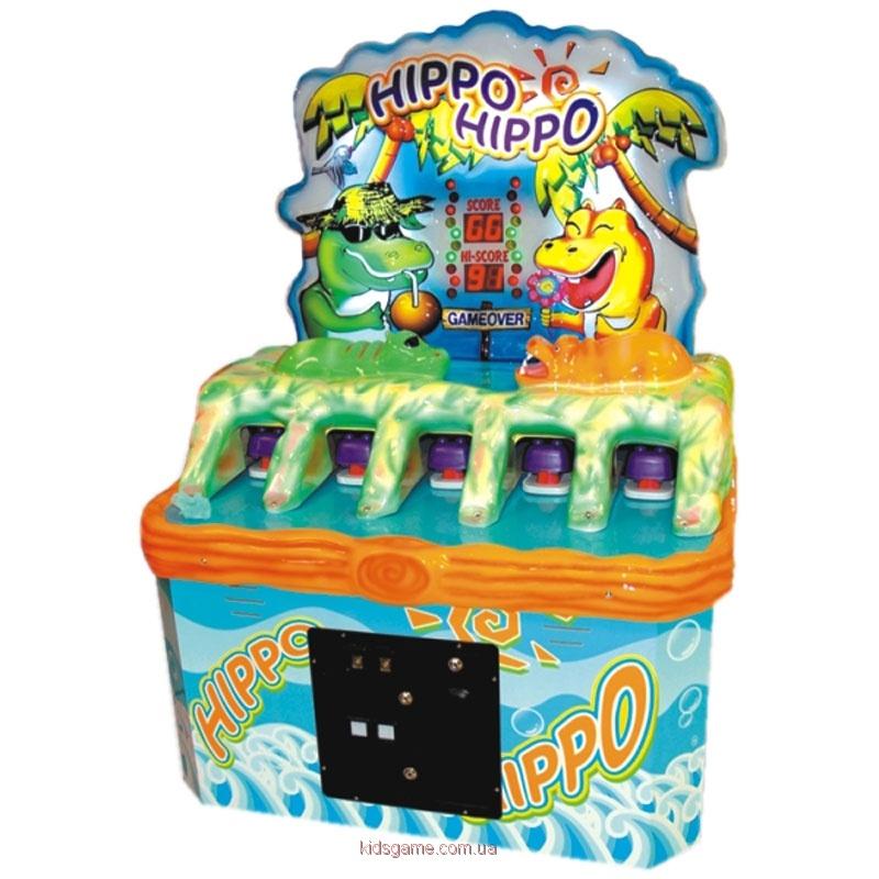Развлекательный автомат редемпшн с выдачей билетов колотушка Гиппо