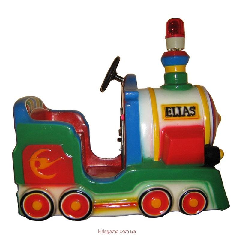 Аттракцион — детская качалка Старинный локомотив
