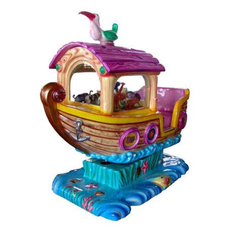 детская премиум-качалка Лодка Джунгли