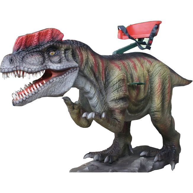 Аттракцион для детей качалка-динозавр Дилофозавр