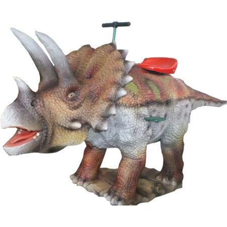 Аттракцион для детей качалка-динозавр Трицератопс