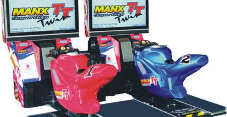 Мото симулятор Manx TT Twin 42″ детское развлекательное оборудование
