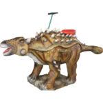 Аттракцион для детей качалка-динозавр Анкилозавр