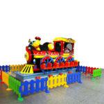 Детская карусель на 12 мест Веселый паровоз