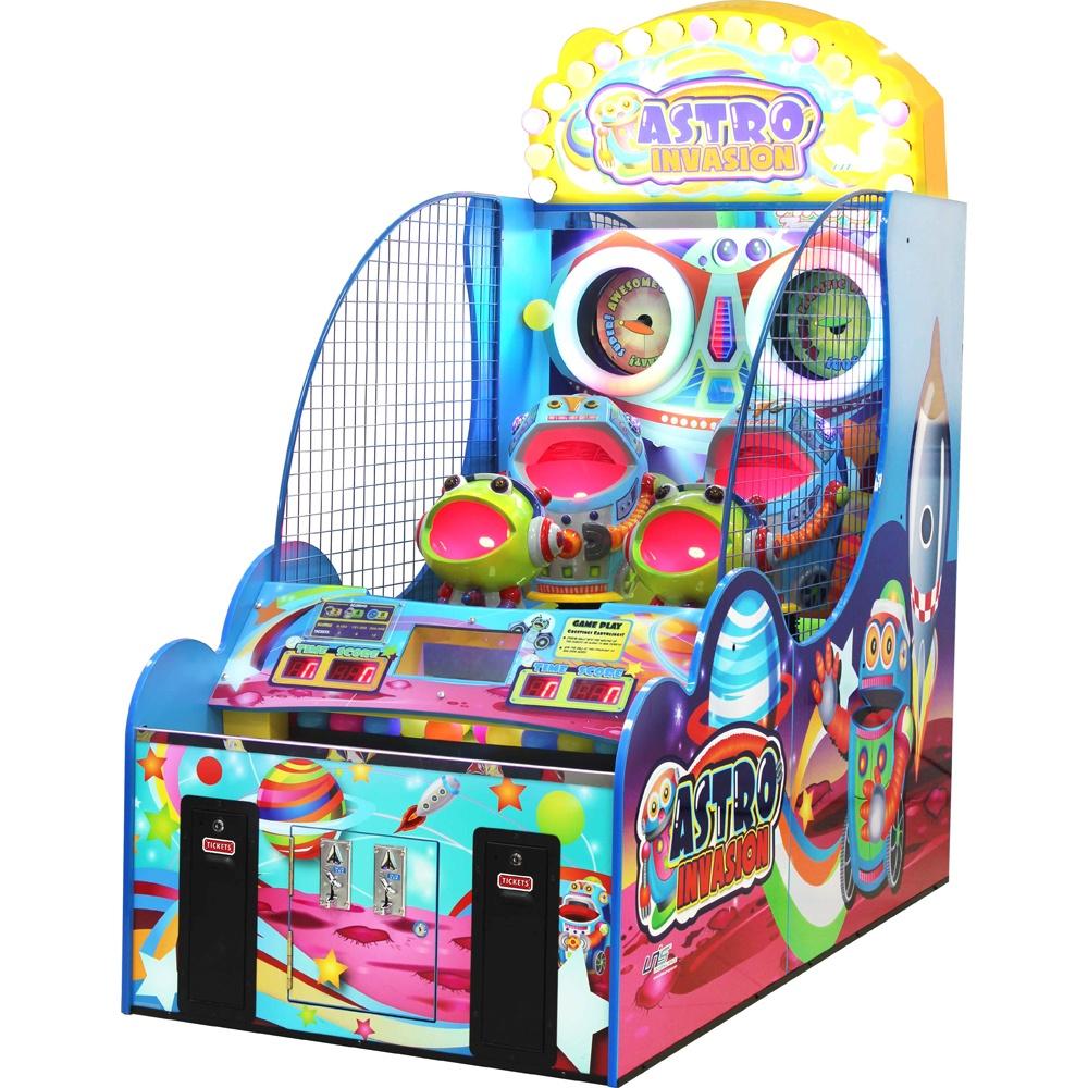Развлекательный автомат редемпшн с выдачей билетов Космическая атака
