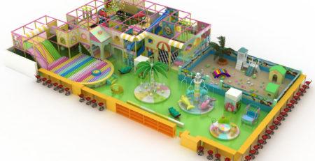 Проект дизайна детского игрового комплекса 002К