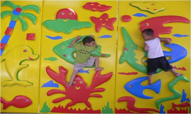 Мягкий модуль Скалолазка для детских игровых комнат