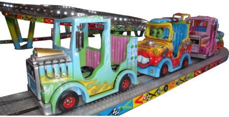 Купить трековые аттракционы для детей Автомобильный конвой