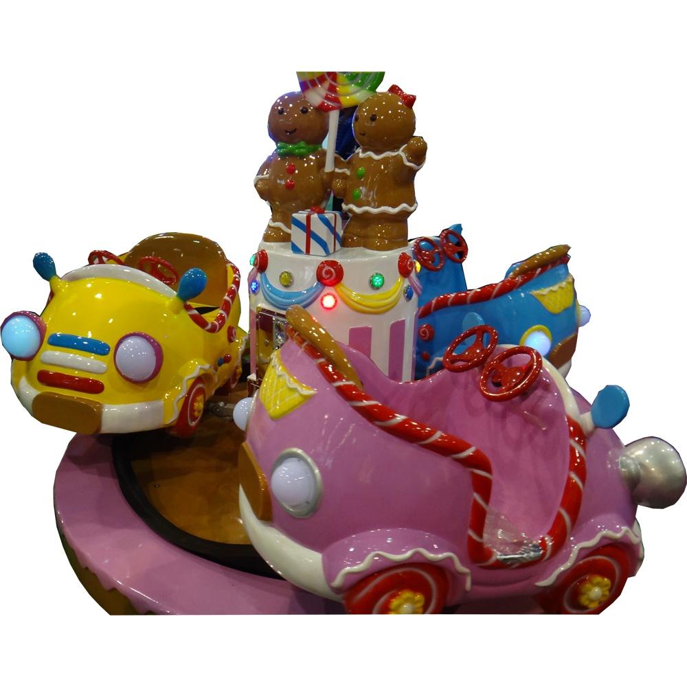 Детская карусель на 6 мест Машинки-конфетки