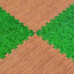 Модульное напольное покрытие под паркет/траву Толщина 2 см