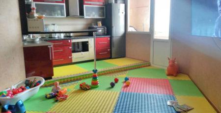 Купить детские спортивные маты пазлы татами Модульное напольное покрытие