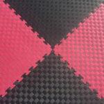 Модульное напольное покрытие Цвет: черно-красный Толщина 2,5 см