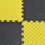 Модульное напольное покрытие Цвет: черно-желтый Толщина 2,5 см