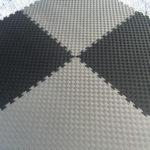 Модульное напольное покрытие Цвет: черно-серый Толщина 2,5 см