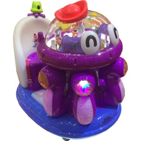 Аттракцион Детская мини-качалка Космический осьминог