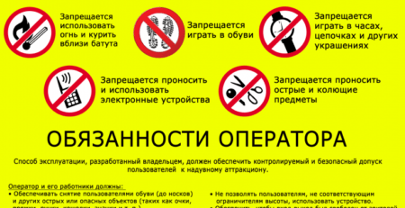 Правила эксплуатации аттракционов