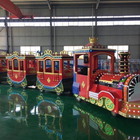 Купить аттракцион детская железная дорога на пневмоходу Поезд Crown в Украине